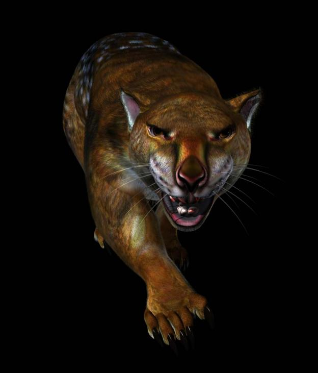 Artists rendition of a Thylacoleo Carnifex
